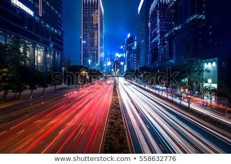 Hong Kong tráfego arranha-céus carro edifício construção Foto stock © kawing921