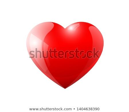 Soyut kırmızı parlak kalp düğün sevmek Stok fotoğraf © rioillustrator