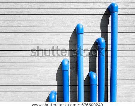 Niebieski rury line zawór ściany budynku Zdjęcia stock © rufous