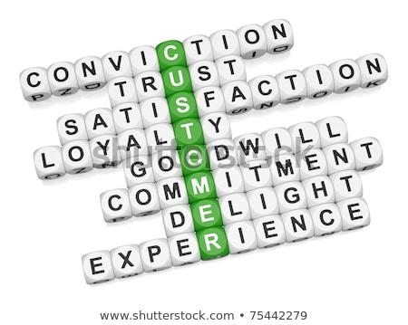 palavras · cruzadas · consultor · 3d · render · palavra · caixa · carta - foto stock © dacasdo