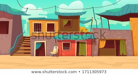Pobre aldeia paisagem Espanha casa grande Foto stock © ifeelstock