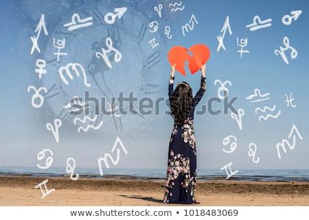 Szeretet asztrológia piros nő ajkak kristálygömb Stock fotó © Lightsource