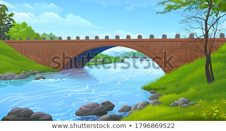Overpass over Green Landscape Stock photo © zzve