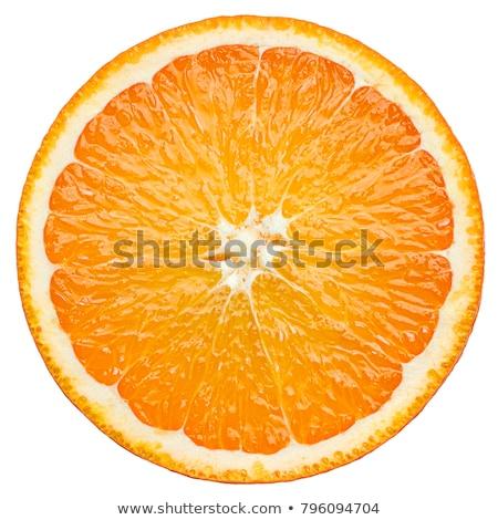 Rodaja de naranja primer plano macro tiro superficial Foto stock © SecretSilent