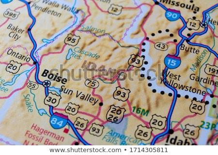 Kaart Idaho reizen zwarte amerika USA Stockfoto © rbiedermann
