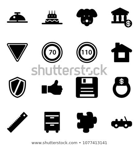 Ringing White Bell Icon on Red Puzzle. Stock photo © tashatuvango