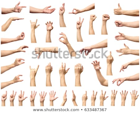 Hand gesture of male isolated on white Stock photo © bloodua
