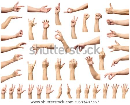 Kézmozdulat férfi izolált fehér üzlet kéz Stock fotó © bloodua