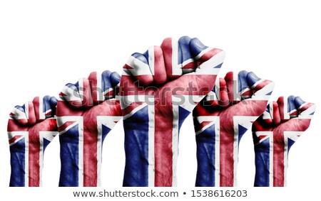 uk flag fist Stock photo © tony4urban