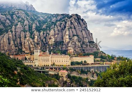山 バルセロナ 表示 空 建物 風景 ストックフォト © dinozzaver