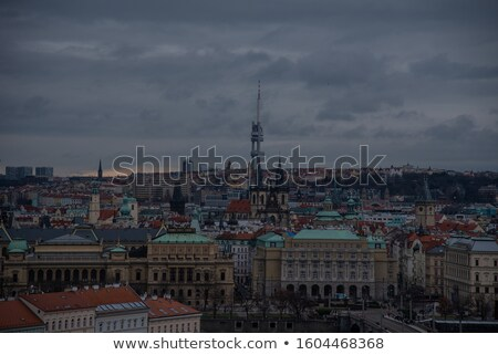 top of a telecommunication tower on an overcast day Stock photo © pazham