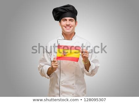 スペイン国旗 · スペイン語 · フラグ · 風 · 青空 - ストックフォト © stevanovicigor