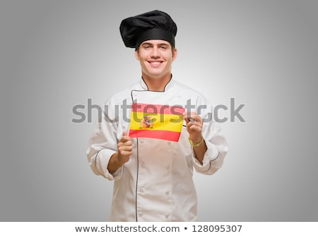Испания флаг человека баннер испанский флаг Сток-фото © stevanovicigor