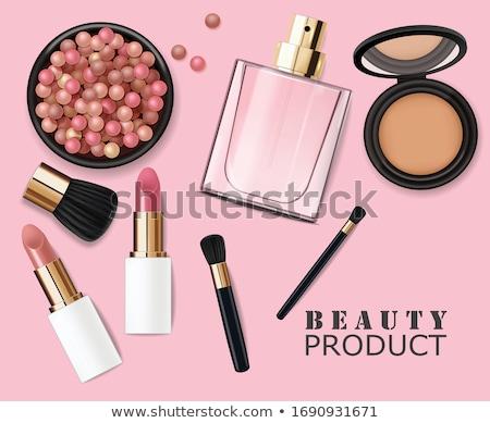 conjunto · make-up · espelho · branco · moda · pintar - foto stock © tannjuska