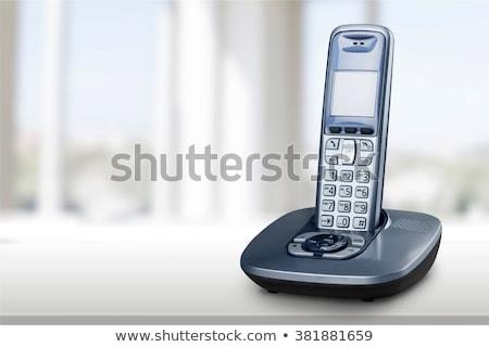 コードレス 電話 孤立した ベンチ 電話 話し ストックフォト © kitch