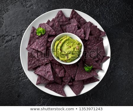 Blu mais tortilla chip bianco Foto d'archivio © MSPhotographic