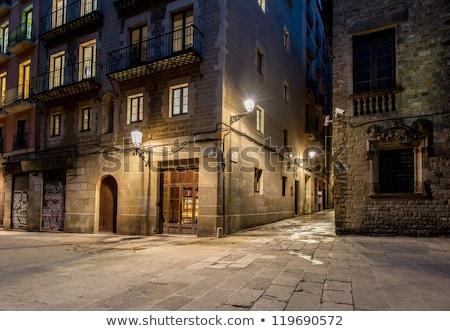 Streetlight on a beautiful street of Barcelona Stock photo © Nejron