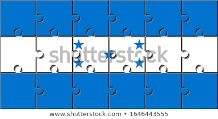 Honduras pavillon puzzle isolé blanche football Photo stock © Istanbul2009