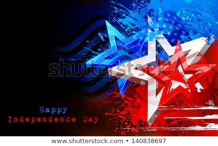 Americano dia sujo bandeira americana cor Foto stock © bharat