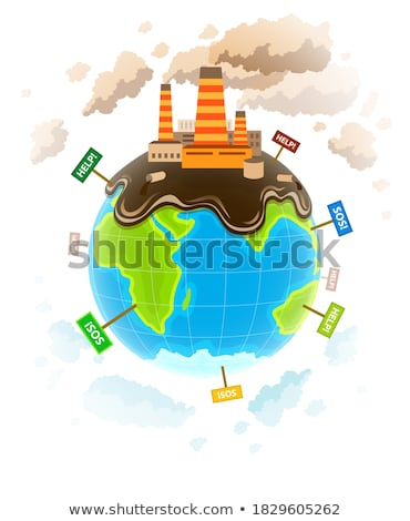 Ecology concept world planet industrial ecocatastrophe Stock photo © LoopAll