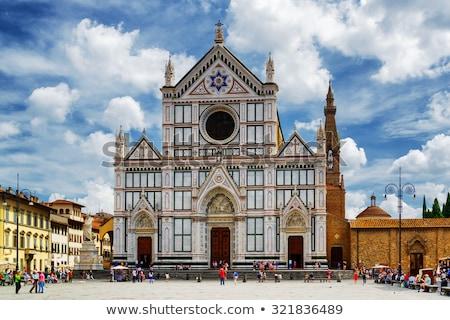 базилика · Флоренция · подробность · фасад - Сток-фото © aladin66