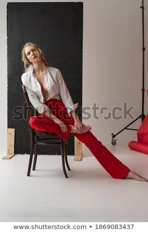 Beautiful trendy busty blond woman Stock photo © dash