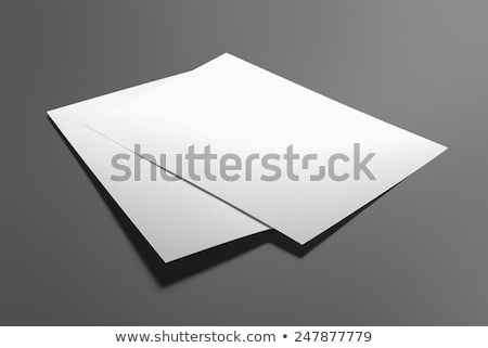 brosúra · izolált · szürke · papír · marketing · fehér - stock fotó © montego