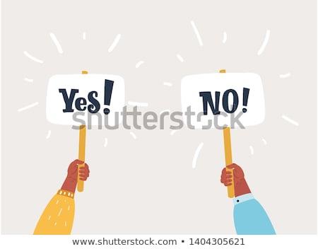yes or no choice stock photo © krisdog