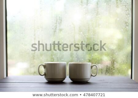 чай · деревянный · стол · домашний · Cookies · Vintage - Сток-фото © feelphotoart