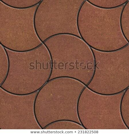 Marrón pavimento ondulado líneas forma sin costura Foto stock © tashatuvango