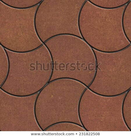 Brown Pavement - Crossed Wavy Lines . Stock photo © tashatuvango