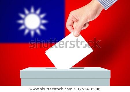Oylama kutu Tayvan parti çapraz bayrak Stok fotoğraf © Ustofre9