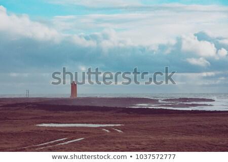 Photo stock: Paysage · blanche · phare · dramatique · vue · eau