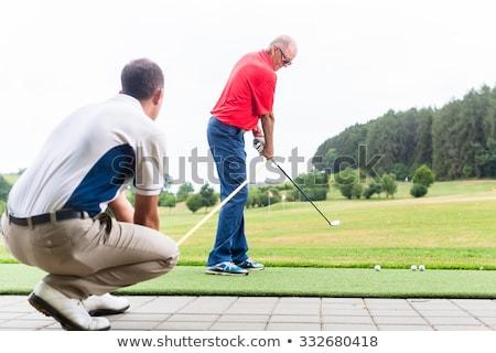 giovane · giocare · golf · club · relax - foto d'archivio © arenacreative