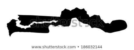 silhouette map of gambia stock photo © mayboro