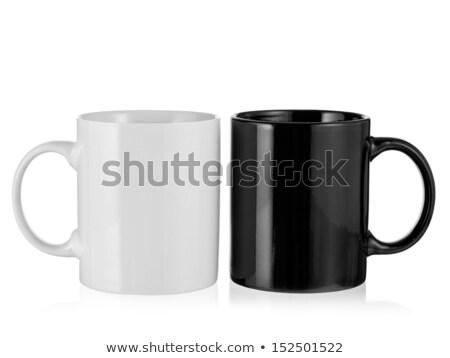 белый Кубок черный 3D оказанный изображение Сток-фото © bayberry