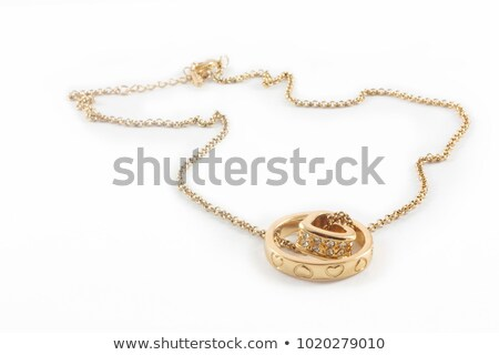 gold pendant heart isolated Stock photo © ozaiachin