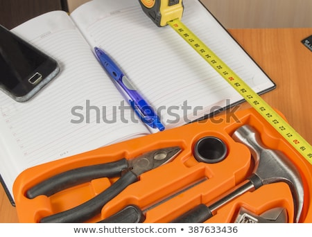 assorted do it yourself tools and notebook stock photo © stevanovicigor