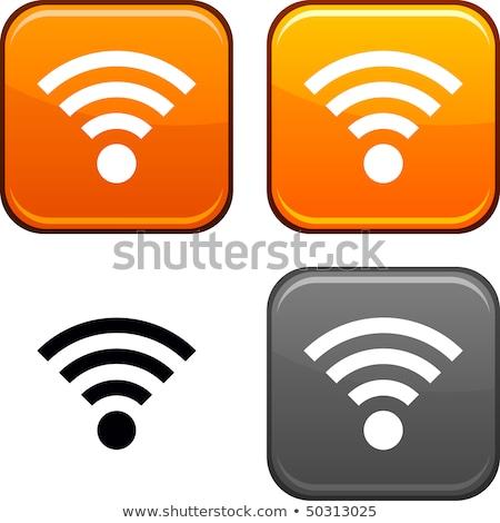 Wifi icon heldere knoppen ingesteld computer Stockfoto © aliaksandra