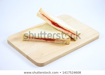 Toast Bread with Strawberry Jam Filling on Plate Stock photo © ozgur