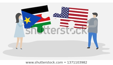 USA and South Sudan Flags in puzzle Stock photo © Istanbul2009