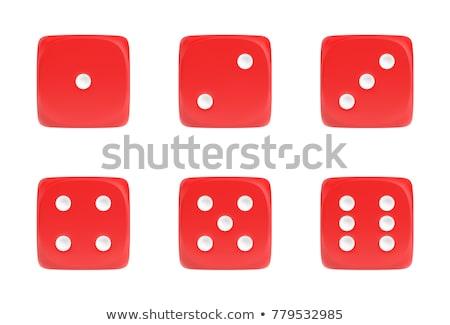 Kości kasyno sukces biały Zdjęcia stock © PokerMan