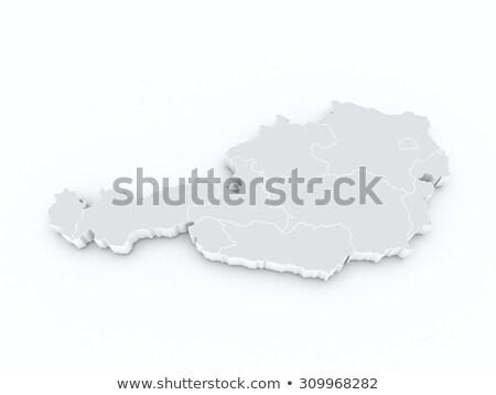 Narancs gomb kép térképek Ausztria űrlap Stock fotó © mayboro
