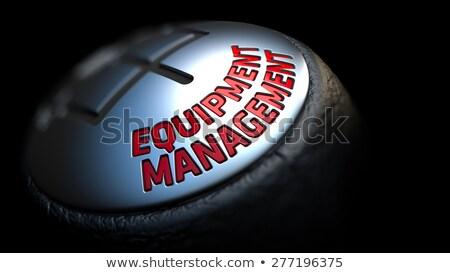 Equipment Management on Black Gear Shifter. Stock photo © tashatuvango
