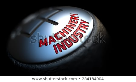 Gear Stick with Red Text Machinery Industry.  Stock photo © tashatuvango