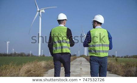 Two wind turbines in a rural landscape Stock photo © stryjek