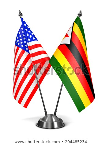 USA and Zimbabwe - Miniature Flags. Stock photo © tashatuvango
