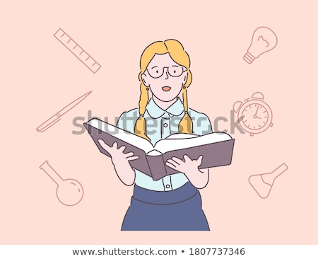 vector school desk illustration stock photo © balabolka
