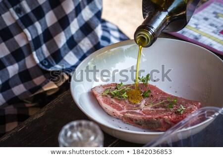 мяса · оливками · базилик · катиться · хлеб · оливкового - Сток-фото © devulderj