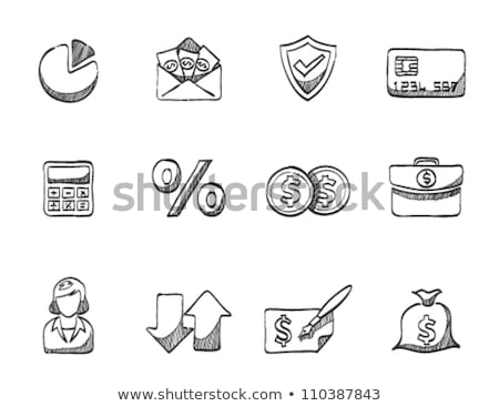 credit cards and exchange doodle icon stock photo © netkov1